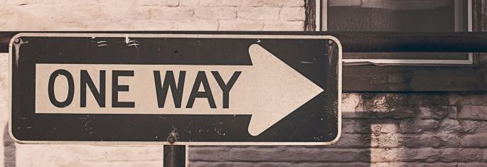 Warum mein Blog noch keine Nische braucht- TwistheadCats-Blog-Kolumne-One Way-Einbahn
